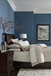 Chambre Gris Et Bleu : 1001 id es pour am nager ses espaces en couleur bleu gris ~ Melissatoandfro.com Idées de Décoration