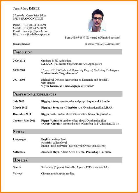 european curriculum vitae format modelo de curriculum vitae