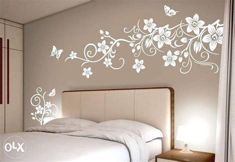 Modern Living Room Wall Painting Stencil  Modern Home