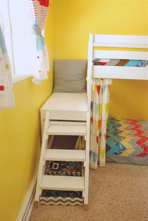 Loft Bed by White Diy Jr C Loft Bed With Curtain Diy Projects