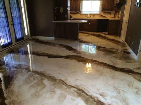 Epoxy Bathroom Floor by Metallic Epoxy Marbled White And Brown Abilene