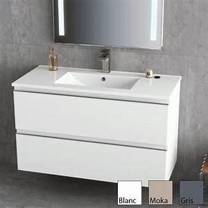 inglet meuble salle de bain brillants laque 3 finitions With meuble lavabo salle de bain profondeur 35 cm