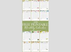 Free Printable Calendar 2019 Monthly Calendar On