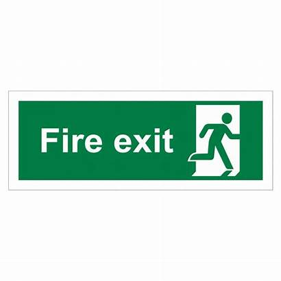 Exit Fire Running Sign Right Signs Safety