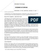 biotechnology statement  purpose