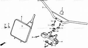 Honda Motorcycle 1990 Oem Parts Diagram For Handlebar