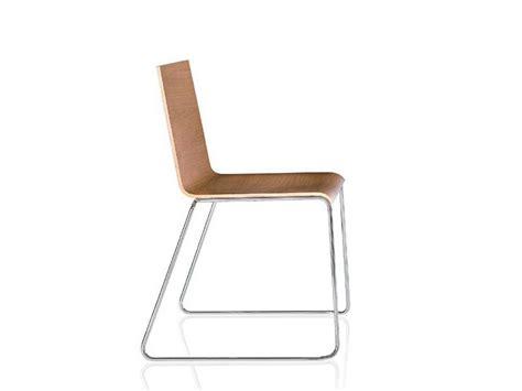 casablanca sled base chair by alma design design nicola cacco