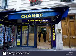 Bureau De Change Paris France Stock Photo Royalty Free
