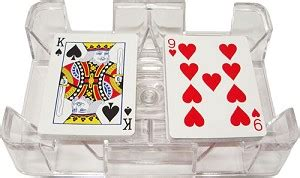standard playing card tray holds cards  easy retrieval