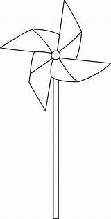 Pinwheel Whirligig Windmill Pinwheels Sweetclipart Colorable sketch template