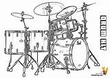 Drum Coloring Musical Drums Kit Pages Percussion Pearl Majestic Template Yescoloring Instrument Snare Templates Flute Sketch sketch template