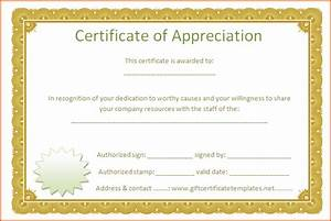 7 certificate of appreciation template word With microsoft word certificate of appreciation template