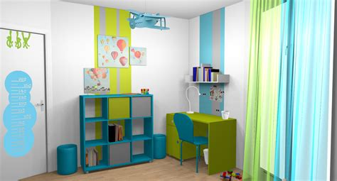 id 233 e d 233 co chambre gar 231 on turquoise