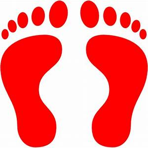 Free red human footprints icon - Download red human ...