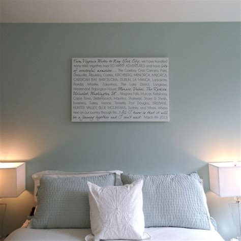 soft bedroom colors  custom word wall art  canvas