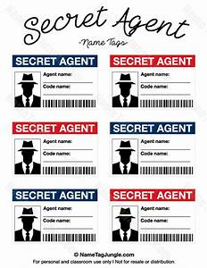 Free printable secret agent name tags. These would be ...