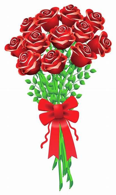 Clipart Flower Clip Roses Valentines Bouqet Svg