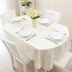 Tischdecke Oval 160x200 : buy telescopic folding table oval pvc table cloth waterproof anti oil anti hot ~ Eleganceandgraceweddings.com Haus und Dekorationen