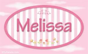 Melissa, nombre de bebé de niña, Niñas Nombres imágenes, tarjetas