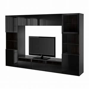 Besta Tv Schrank : best tv schrank kombinierte glast ren schwarzbraun selsviken glanz schwarz klarglas ~ Watch28wear.com Haus und Dekorationen