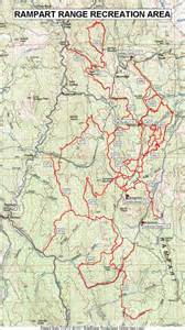 Colorado Rampart Range Trail Map