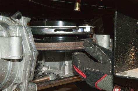 replace  blade belt    turn riding mower