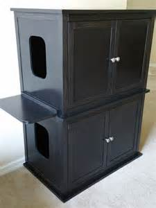 Taylor Made Custom Cabinets by Stacked Double Hand Made In Usa Wood Cat Litter Box