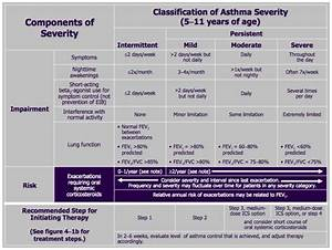 Asthma Classification Chart Asthma Action Plan Pdf Wheezing Phenotypes And Natural