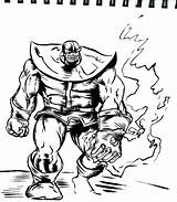 Infinity Coloring Pages Disney Avengers Gauntlet War Thanos Sketch Colouring Printable Template sketch template