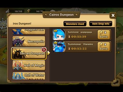 dungeon si e guida summoners war secret dungeon come sfruttarli al