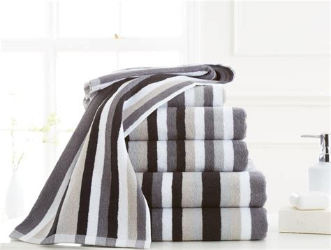 gray and teal curtains 100 cotton stripe bath towel pack of