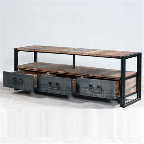 Canapé Loft But - meuble tv industrielle 3 tiroirs 1 niche