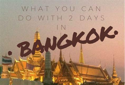 days  bangkok   sees   eats   days
