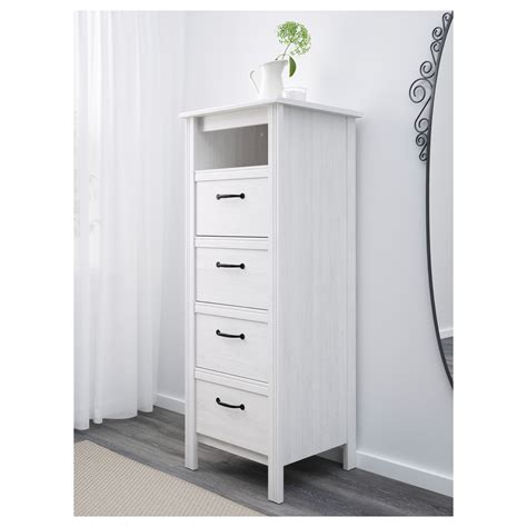 Ikea Brusali Chest Of Drawers by Brusali Chest Of 4 Drawers White 51x134 Cm Ikea