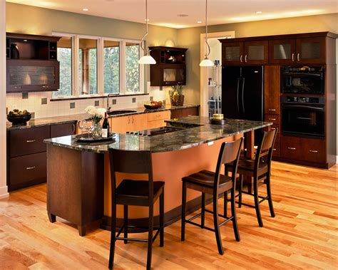 kitchen island and bar kitchen island with cooktop kitchen contemporary with bar