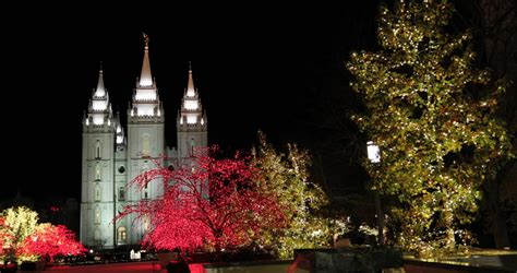 salt lake christmas tree lots salt lake city utah dec 2016 salt lake city temple lights trees the church