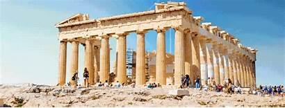 Ancient Ruins Cool Glory Gifs Parthenon