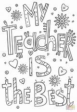 Teacher Coloring Teachers Doodle Appreciation Gifts Week Printable Thank Cards Happy Printables Bible Parent Supercoloring sketch template