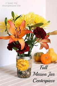 Fall Mason Jar Centerpiece - {i love} my disorganized life