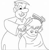 Barber Community Clipart Helper Coloring Outline Colouring Pages Helpers Printable Nurse Julian King Webstockreview sketch template