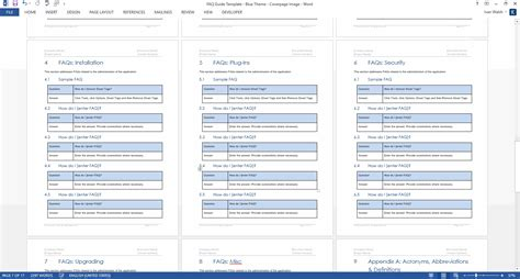 frequently asked questions templates ms word templates