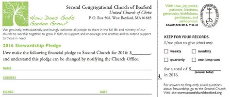 congregational church  boxford stewardship
