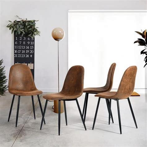 lot 4 chaises lot de 4 chaises de salle à manger chaises de cuisine
