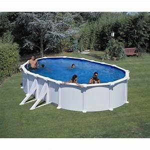 Piscine Acier Hors Sol Pas Cher : gre piscine acier ovale 500x300 cm h 120 cm blanc ~ Dailycaller-alerts.com Idées de Décoration