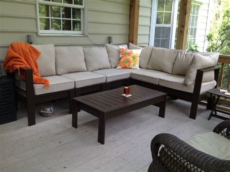 ana white outdoor sectional  coffee table diy projects