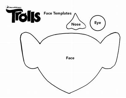 Troll Trolls Face Template Templates Poppy Craft