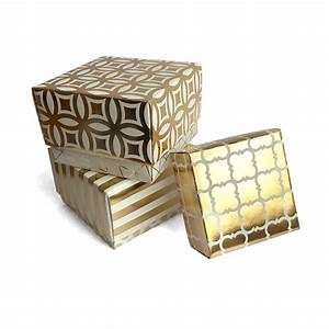 handmade square gold gift boxes baubles trinkets
