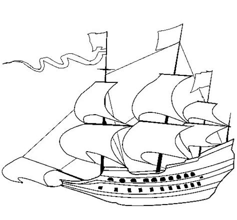 Mayflower Ship Coloring Pages Toddler