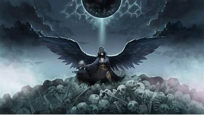 Angel Devils Skulls Wallpapers Fantasy Skull Dark