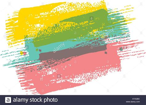 color paint brush vector color brush painted watercolor abstract paint texture stock vector illustration